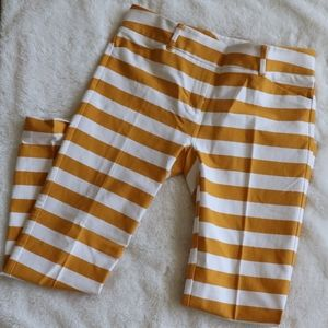 New York & Company yellow and white stripe pants